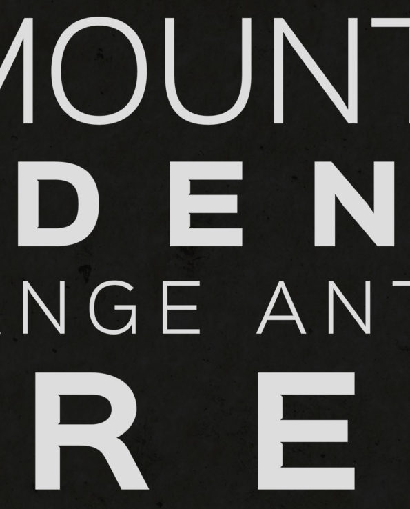 Seven Summits Bass Version Typography Closeup
