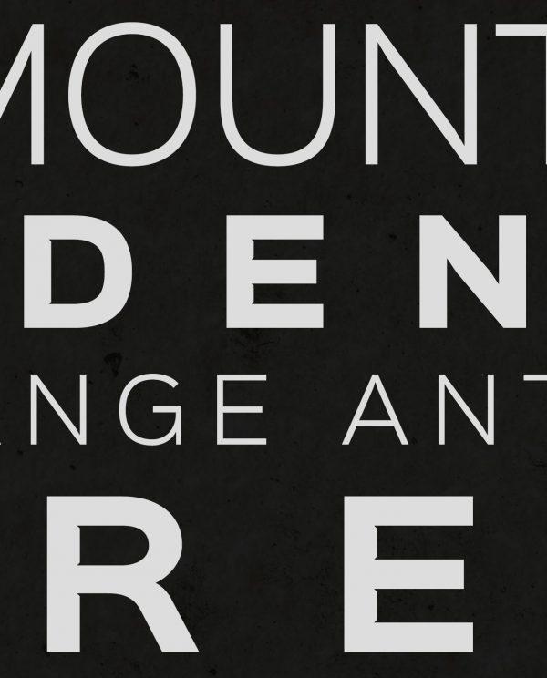 Seven Summits Bass Version Typography Closeup