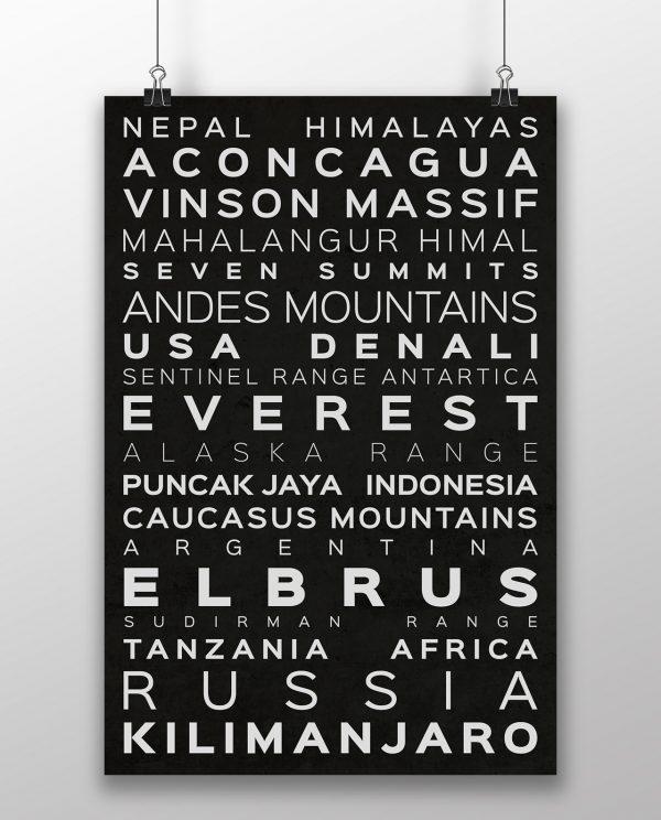 Seven Summits Messner Version Typography Black