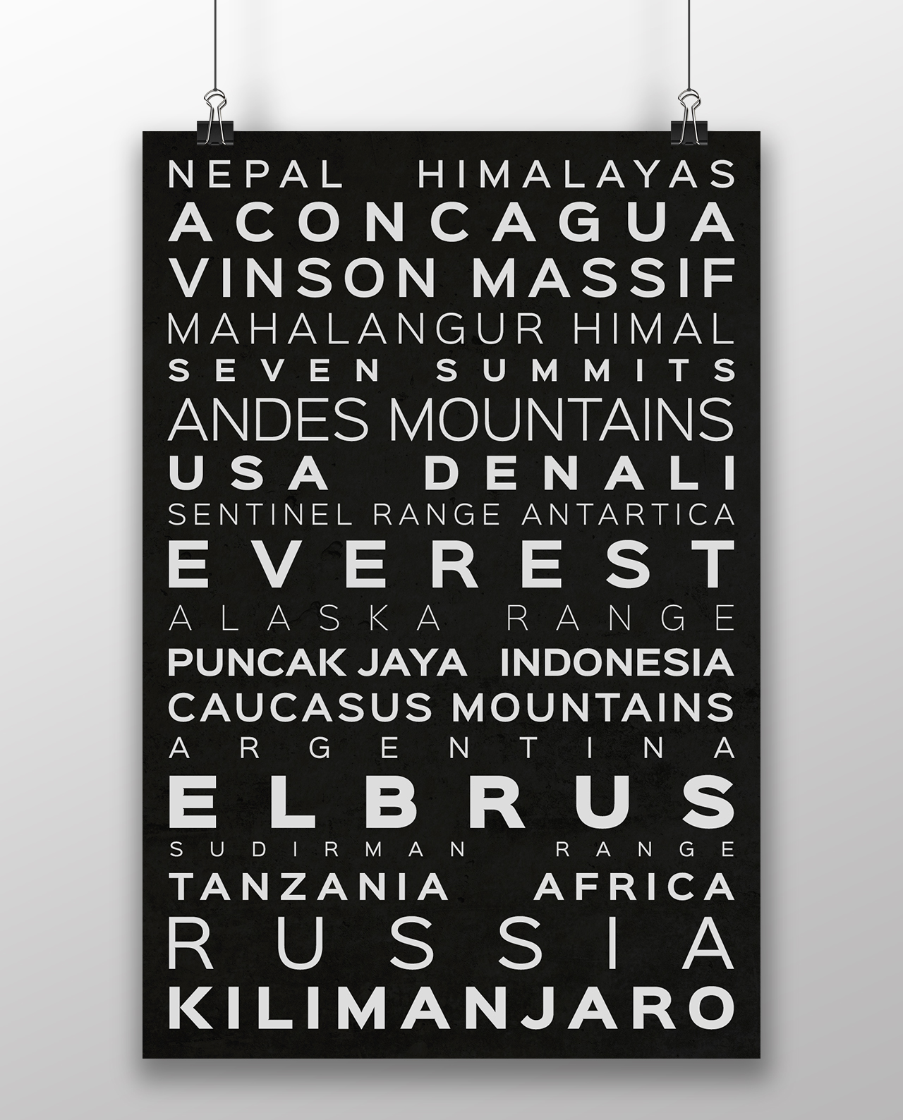 Seven Summits Messner Version Typography Black