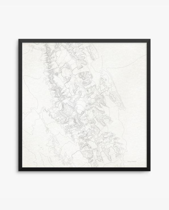 Vinson Massif Vintage Background Framed