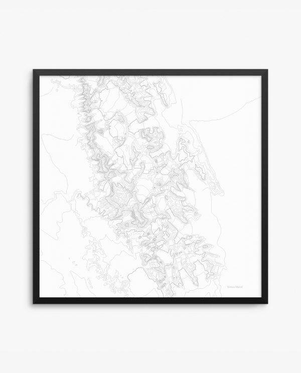 Vinson Massif White Background Framed