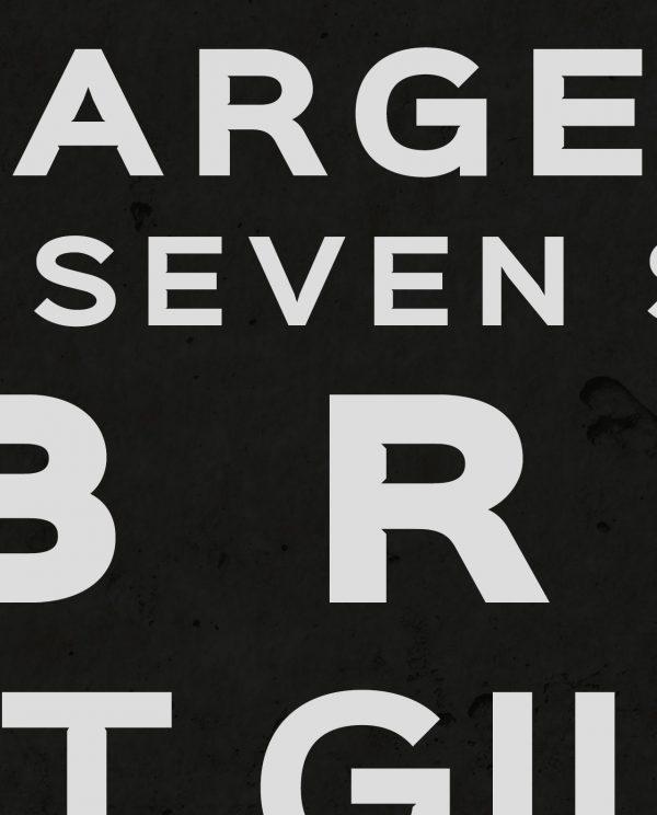 Volcanic Seven Summits Typography Closeup