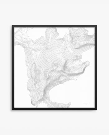 Aconcagua White Background Framed