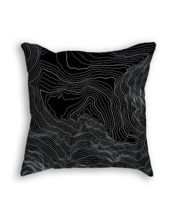 Denali Alaska USA Decorative Throw Pillow Black