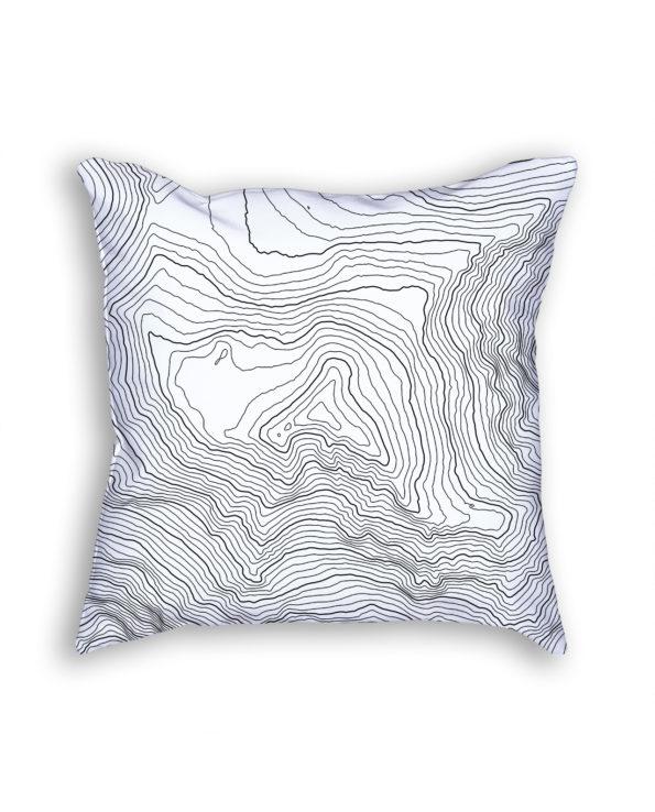 Denali Alaska USA Decorative Throw Pillow White
