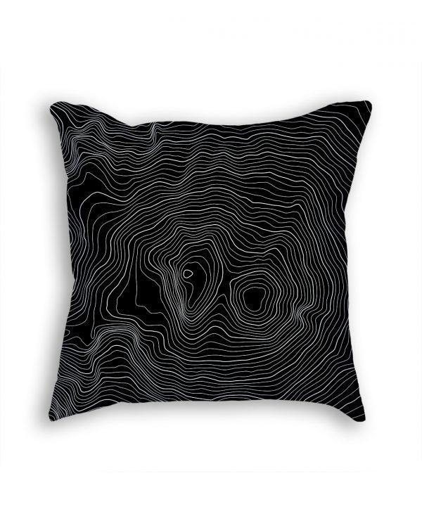 Mount Elbrus Russia Decorative Throw Pillow Black