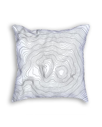 Mount Elbrus Russia Decorative Throw Pillow White