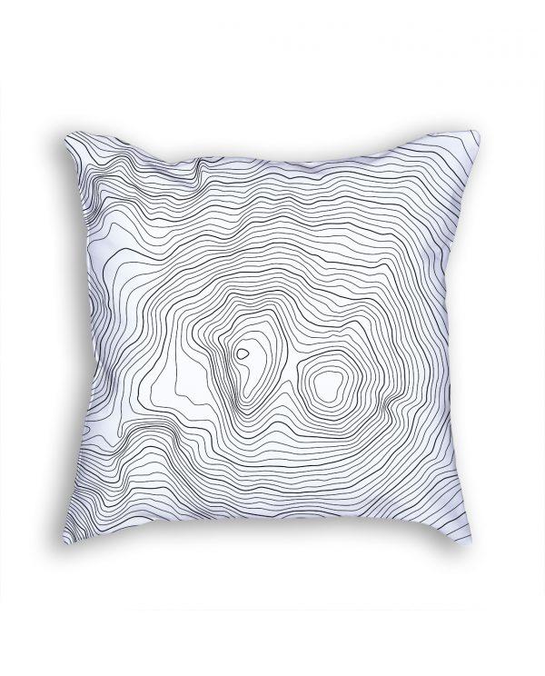 Mount Elbrus Russia Decorative Throw Pillow White