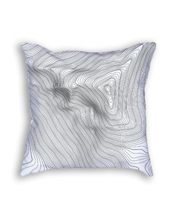 Mount Everest Nepal Decorative Throw Pillow White