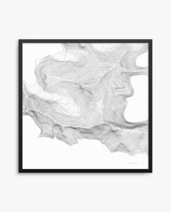 Mount Everest White Background Framed