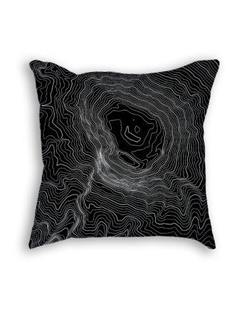 Mount Kilimanjaro Tanzania Decorative Throw Pillow Black