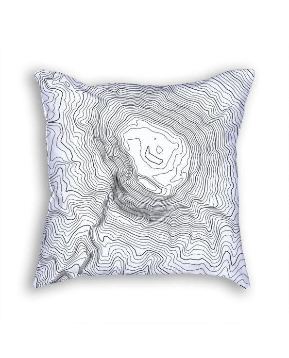 Mount Kilimanjaro Tanzania Decorative Throw Pillow White