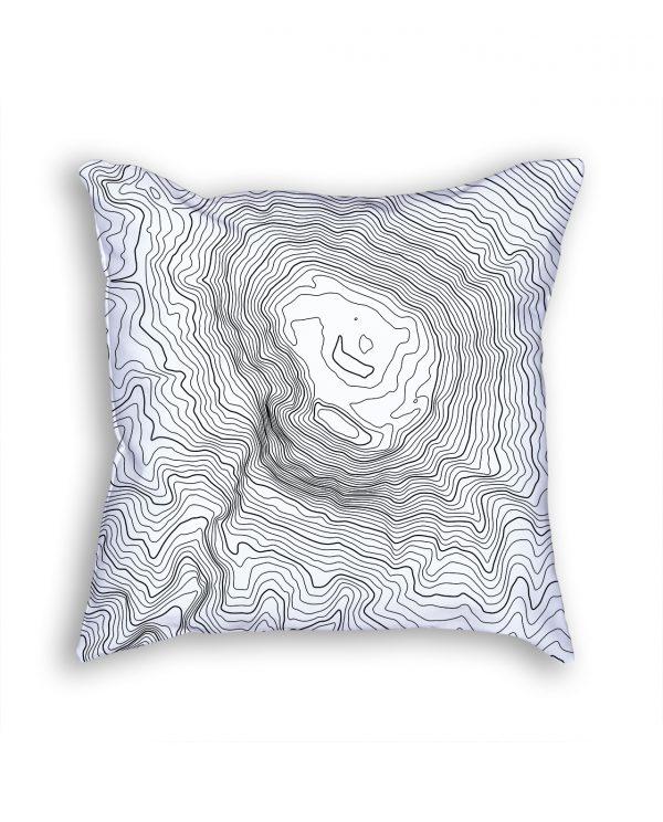 Mount Kilimanjaro Tanzania Decorative Throw Pillow White