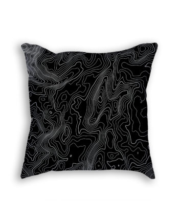 Mount Kosciuszko Australia Decorative Throw Pillow Black