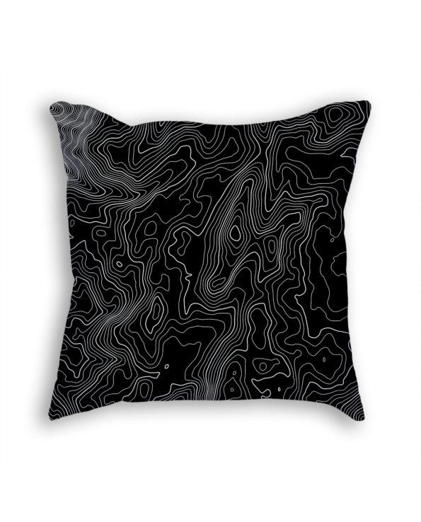 Mount Kosciuszko Australia Decorative Throw Pillow Black