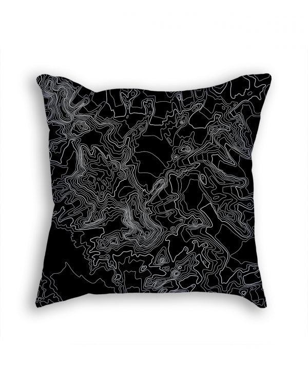 Vinson Massif Antarctica Decorative Throw Pillow Black