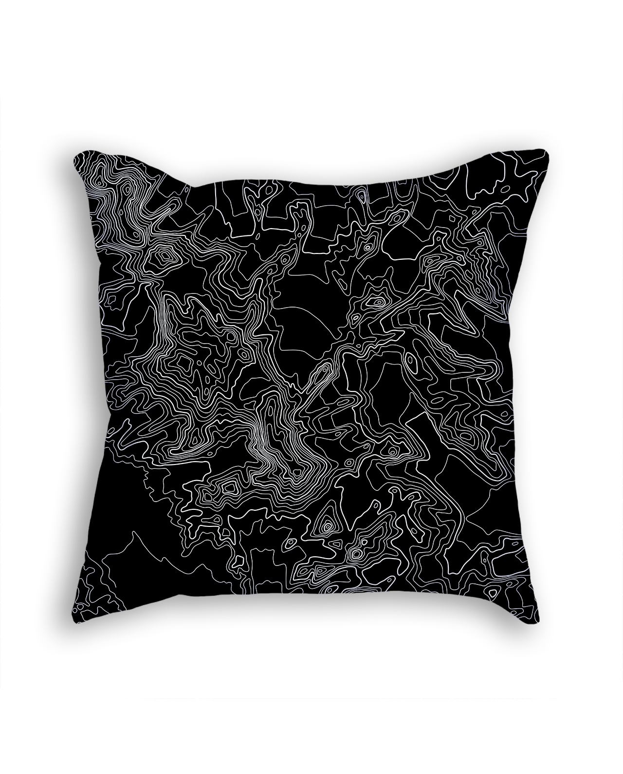 Vinson Massif Antarctica Decorative Throw Pillow Black