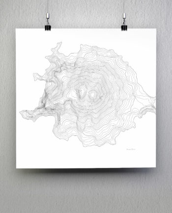 Mount Elbrus Russia mountain topography posters on white background.