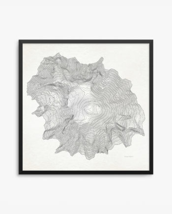Mount Rainier Contours Vintage Framed Poster