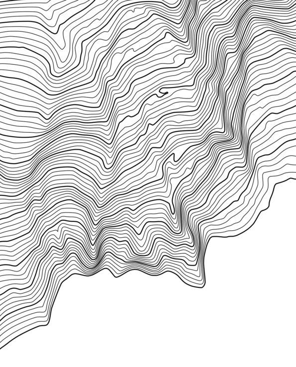 Mount Rainier poster white detail