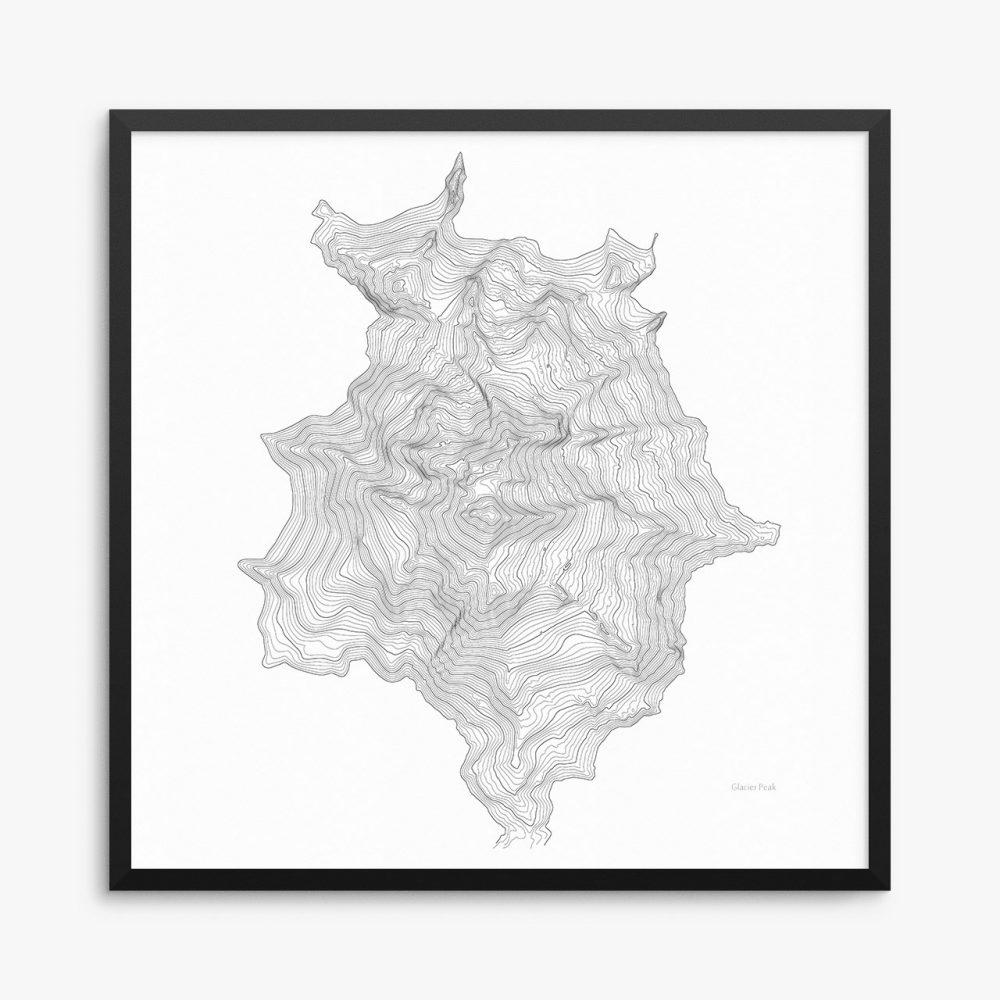 Glacier Peak Framed Poster
