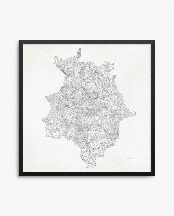 Glacier Peak Vintage Framed Poster