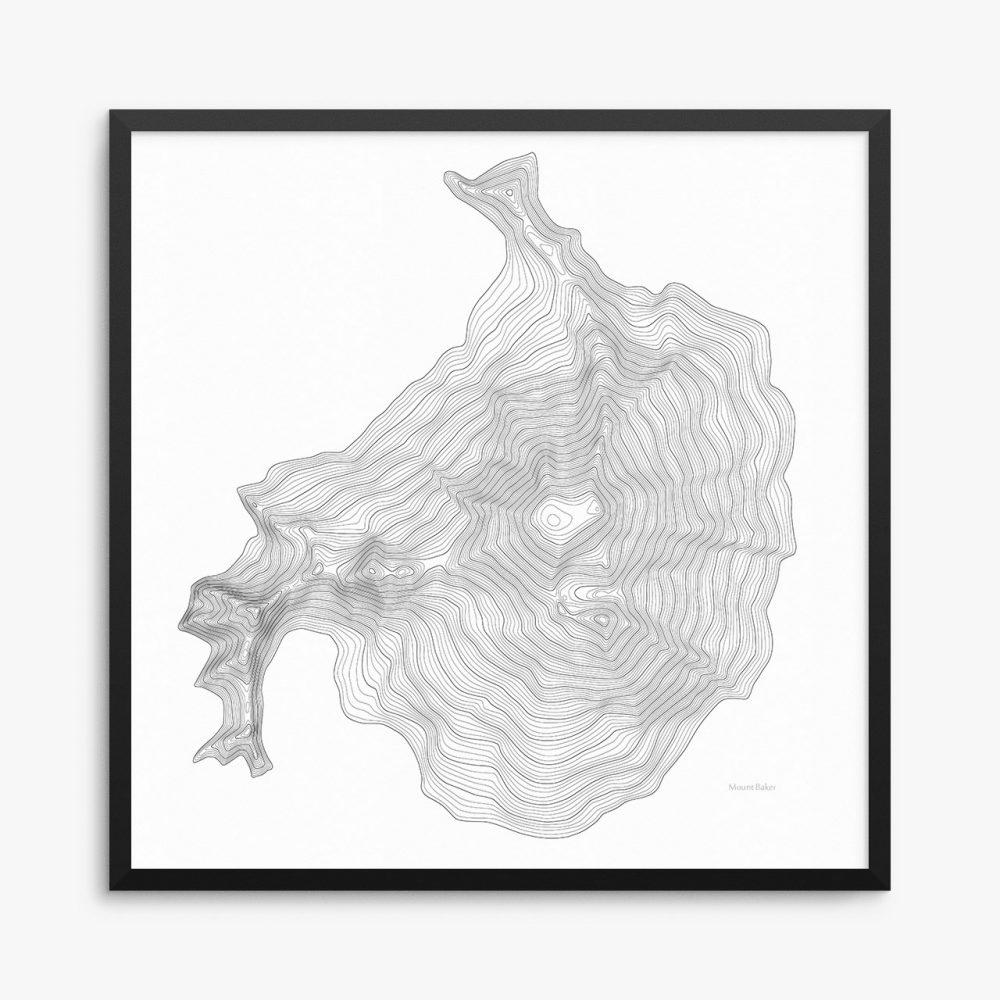 Mount Baker Framed Poster